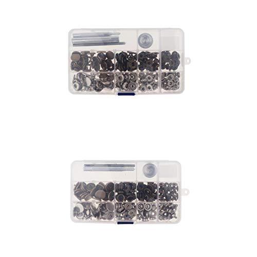 Desconocido Generic Kit de Herramientas de Cuero con Botón de Botón de Presión Y Botón de Presión de 60 Broches
