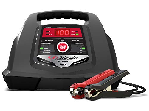 Schumacher SC1281 100 Amp 30 Amp 6V/12V Fully Automatic Smart Battery Charger 100A Engine Starter and 30A Boost Maintainer and Auto Desulfator Advanced Diagnostic Testing
