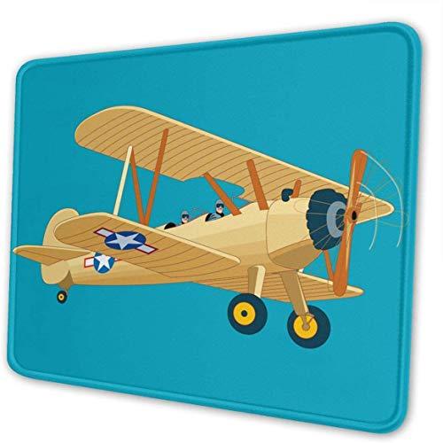 Gaming Mouse Pad Getekend Vliegtuig Rechthoek Mousepad Mouse Mat voor Gift Ondersteuning Bedraad Draadloze Of Bluetooth Muis