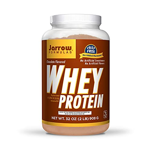 Jarrow Formulas Whey Protein, Chocolate - 908g Powder - Supports Muscle Development - Rich in BCAAs - Approx. 35 Servings