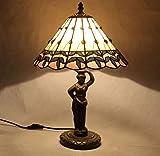 GDLight Tiffany Style Tischlampe Europäischen Minimalismus Schreibtisch Nachttischlampe mit Göttin...