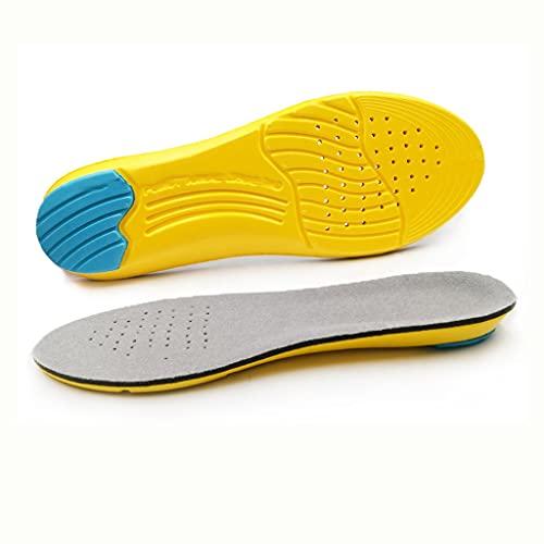 GELTDN Inserciones de zapato plantillas de deporte suave plantillas de memoria espuma de memoria transpirable al aire libre corriendo de silicona gel de silicona cojín plantillas ortopédicas UE 35-47