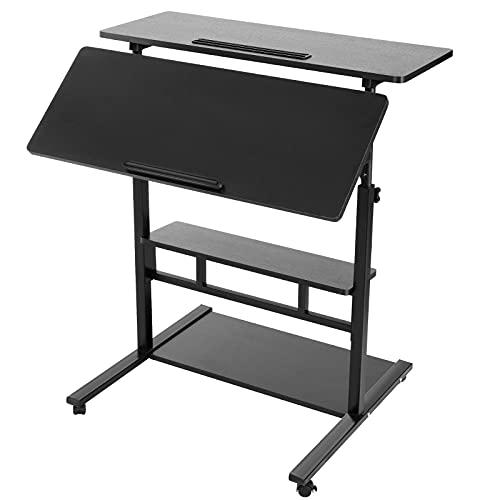 ZJBJ Escritorio de computadora de pie levantable Simple (Color : Black)