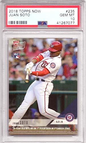2018 Topps Now Baseball #235 Juan Soto Rookie Card Graded PSA 10 Gem Mint