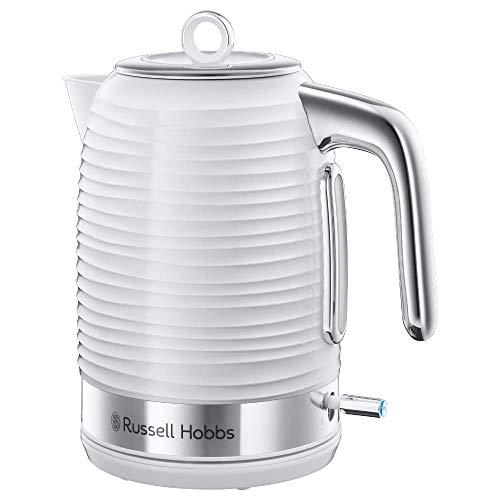 Russell Hobbs Wasserkocher Inspire weiss, 1,7l, 2400W, Schnellkochfunktion, optimierte Ausgusstülle, herausnehmbarer Kalkfilter, abnehmbarer Deckel, Wasserstandsanzeige, Teekocher 24360-70