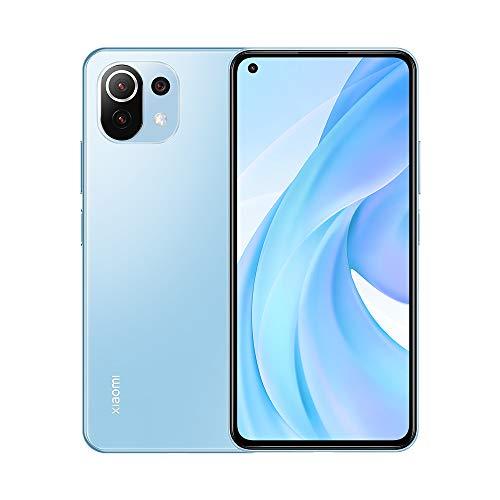 Xiaomi Mi 11 Lite 6.55' FHD+ Smartphone 6GB RAM + 128GB ROM, Qualcomm Snapdragon 732G, cámara Principal de 64MP, teléfono Celular con cámara Frontal de 16MP (Azul)