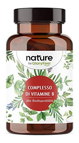 Vitamina B Complex in Forma Bioattiva, 200 capsule Vegan, Complesso Vitamine B ad alto dosaggio, Vitamine del gruppo B contro Stanchezza, Vitamine B1 B2 B3 B5 B6 B7 (Biotina) B9 (Acido Folico) B12