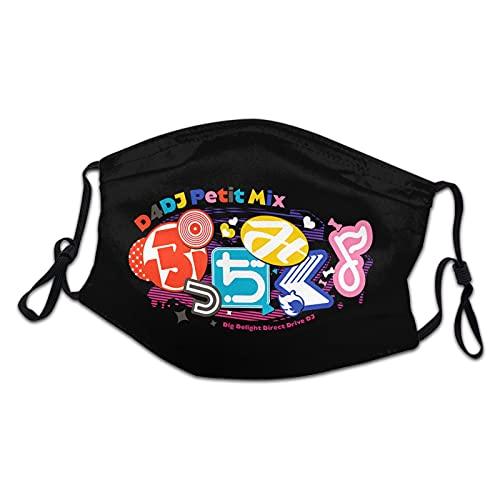Anime D4dj Petit Mix Logo Face Masks For Kids Reusable Adjustable Washable Breathable Dustproof Mouthcover