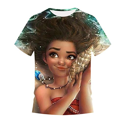 CHWEI Gebreide Hoed Kind 3D Drukkerij Dochter Van De Zee Patroon Jongens Meisjes Zomer Lange Mouw T-shirt Korte Mouw Perspiratie Snel Drogen Outdoor Vrije tijd