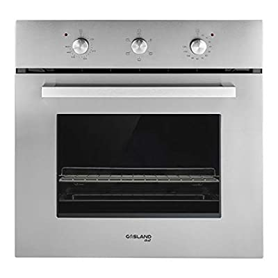 "GASLAND Chef 24"" 2.3Cu.f Multi-functional Built-in Stainless Steel Electric Single Wall Oven, 24-Inch 240V 2000W 6 Cooking Function Electric Oven with Mechanical Knobs Control and 3-Layer Glass Window"