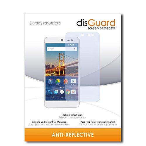 disGuard® Bildschirmschutzfolie [Anti-Reflex] kompatibel mit General Mobile 4G [2 Stück] Entspiegelnd, Matt, Antireflektierend, Extrem Kratzfest, Anti-Fingerabdruck - Panzerglas Folie, Schutzfolie