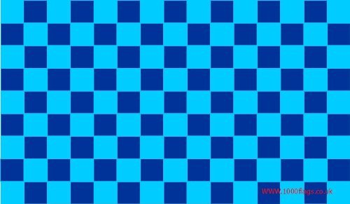 Wycombe Wanderers Navy Blue and Sky Blue Checkered 5'x3' Flag
