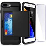 iPhone 7P/ 8P Plus Case with Card Holder and[ Screen