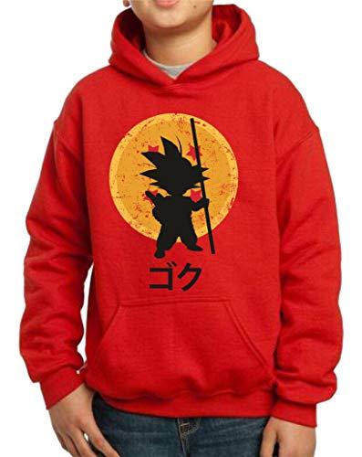 The Fan Tee Sudadera de NIÑOS Dragon Ball Goku Vegeta Bolas de Dragon Super Saiyan 043 7-8 años