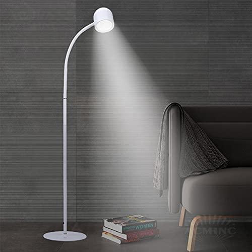 ACMHNC Lámpara de Pie Salon Regulable LED, 10W Moderna Lámpara de Lectura Blanco Luz de Piso Para Dormitorio, Estudio y Leer, 3 Temperaturas Color, 900LM, Función de Memoria, Luz Cuidado Ojos