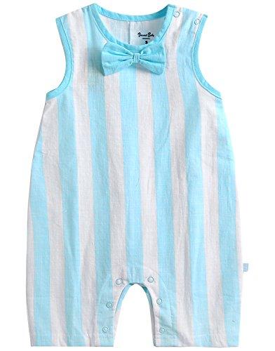 vaenait Baby 56–80 sau TONGLING Bobo Ribbon Combinaison Grenouillère à manches longues Jeu pour bébé Rose - bleu - L
