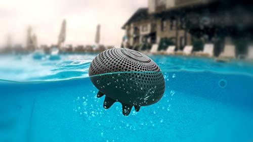 Schwarzer schwimmender wasserdichter Lautsprecher - Mob   Schwarzer schwimmender Lautsprecher   Bluetooth-Lautsprecher mit integriertem Mikrofon   9 Stunden Batterielaufzeit