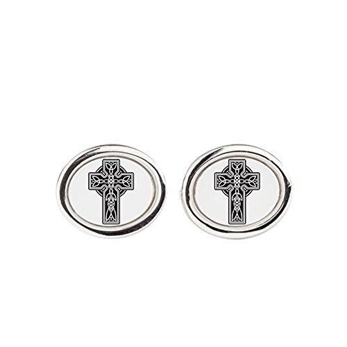 Royal Lion Cufflinks (Oval) Celtic Cross