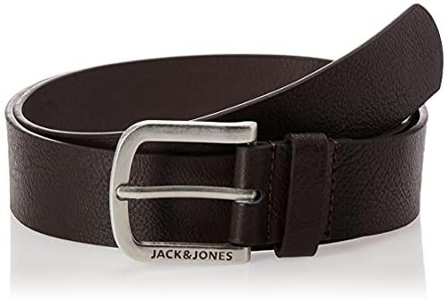 JACK & JONES Jacharry Belt Noos Cinturón, Marrón Black Coffee, 110 (Talla del fabricante: 95) para Hombre