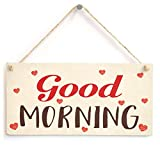 Meijiafei Good Morning Sign - Cute Love Heart Design Morning People Gift 10' X 5'