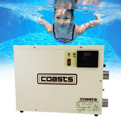 Huanyu Pool thermostaat elektrische zwembadverwarming zwembaden verwarmen met temperatuurregelaar voor Spa Bathe zwembad ST-18,18kw,geeignet für 6m³ Wasser