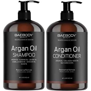 Baebody Moroccan Argan Oil Shampoo & Conditioner Set, 16 Ounces