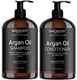 Baebody Moroccan Argan Oil Shampoo & Conditioner Set, 16 Ounces