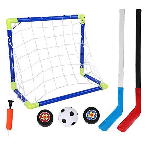 Sharainn Fußballtrainingsspielzeug, tragbares, solides, verschleißfestes Eishockeytor mit Kugelpumpe für Kinder im Freien Spielen im Innenbereich, Trainingssportspielzeug