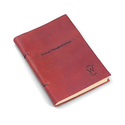 Unbekannt NTLux personalisiertes Leder Notizbuch Journal – Originelles Geschenk mit kostenloser Gravur – Perfekt für Sie, Ihn, Autoren, Texter, Studenten, Kollegen, Lehrer, Reisende und Köche
