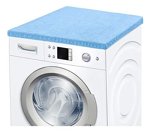 Ladeheid Waschmaschinenbezug Frotteebezug 50x60 cm (Hellblau)