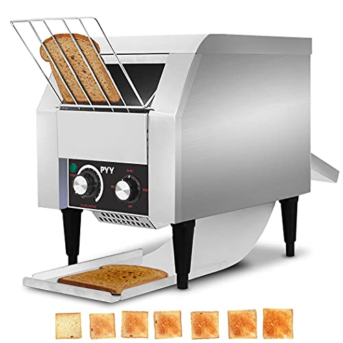 Commercial Toaster Conveyor Restaurant Toaster for Bun Bagel Roller Bread 150slices/h Heavy Duty Industrial Toasters Steamers Efficient Stainless Steel Toster Quality Belt Toaster Hotel Restaurants