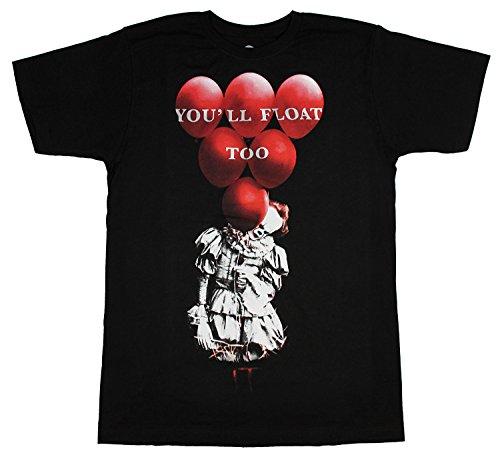 It Red Balloons Black T-Shirt-M