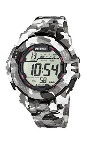 Calypso-Orologio da polso da uomo digitale, con Display LCD digitale e cinturino in plastica, multicolore, K5681/1