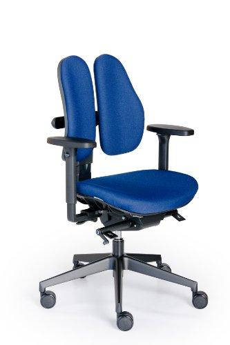 Rohde und Grahl Duo Back® 11 Ergonomischer Bürodrehstuhl Bezug blau, mit Armlehnen