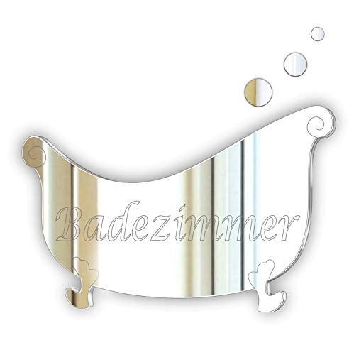Black Friday Sale * Badezimmer Decorative Stylish Plaque/Sign Glass Effect Acrylic Mirror Plaque