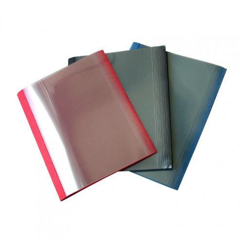 Olympia - Copertine per rilegatura a caldo, 3 mm, per 21-30 fogli, colore: 10 x Blu, 10 x Nero, 10 x Rosso