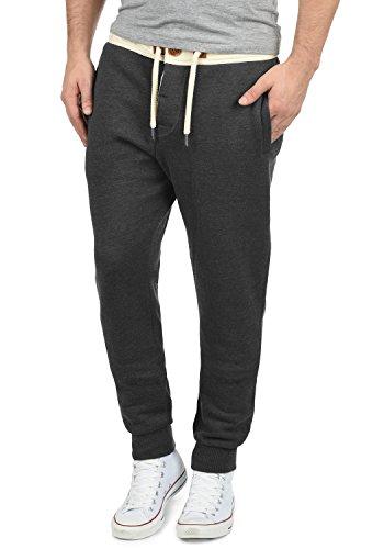 !Solid TripPant Herren Jogginghose Sweatpants Sporthose mit Tunnelzug aus hochwertiger Baumwollmischung Slim Fit Meliert, Größe:XL, Farbe:Dark Grey Melange (8288)