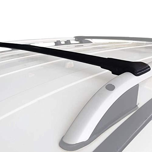 accessorypart Para Citroen C3 Aircross 2018-2020 Barras de techo Aluminio Negro