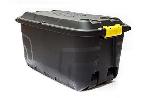 XL Transportbox / Kissenbox mit 75 Liter Fassungsvermögen und vier Rollen! Abnehmbarer und abschließbarer Deckel, Nässe-geschützt und in robuster Ausführung! 77 x 42 x 40 cm!