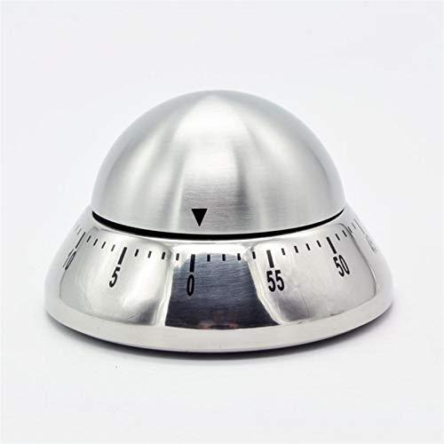 Temporizador de cocina Temporizador de cocina digi Forma creativa de acero inoxidable UFO mecánica temporizador de cuenta regresiva de cocina dentro de una hora utensilios de cocina ( Color : Green )