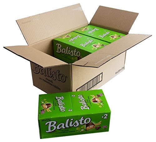 Balisto Müsli grün Großhandelskarton, 120 Riegel im Karton, 6 x 20 x 37g Riegel