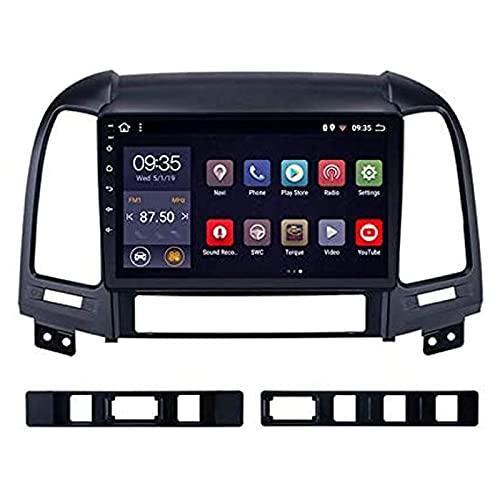 Autoradio di Navigazione GPS per Hyundai Santa Fe 2005-2012 unità Principale Navigatore satellitare Internet Lettore Musicale multimediale Navigazione Web Audio con Touch Screen Bluetooth Mirrorlink,