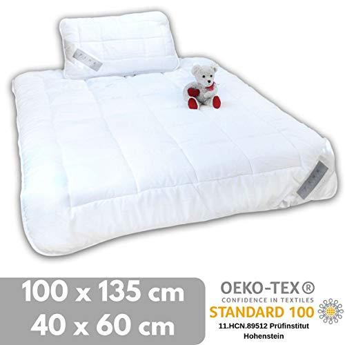 bonsport Kinder Bettdecken Set - 100x135 cm + Kissen 40x60 cm nach Öko-Tex Standard 100 Zertifiziert
