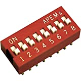 Apem DS-08 Dip Switch Poli 8 Standard 1 pz.