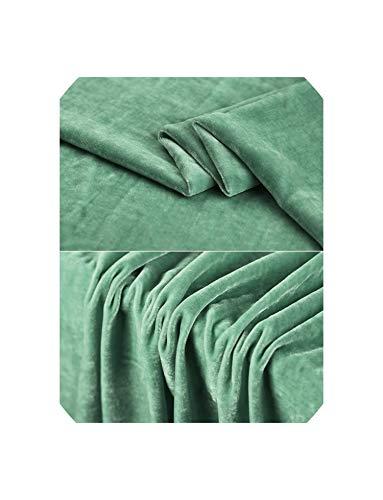 telas Vintage Ankara Fabrics Silk Fabrics Tela terciopelo tecidos Fabric Cotton Velvet Fabric Sewing Quilting Cotton Fabric Meter,Light Green