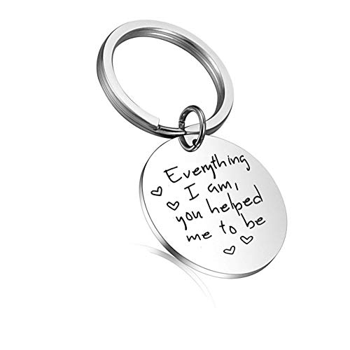 Mom Dad Gifts from Daughter Everything I Am You Helped Me to Be Keychain Mothers Fathers Day Gifts...