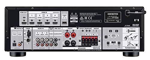 Onkyo HT-S5915 Système Home cinéma 5.1.2 canaux HAT-R495 + système de Haut-parleurs HTTP-598 ; Dolby Atmos, Son Spatial 3D, Fonction AccuReflex Bluetooth Noir