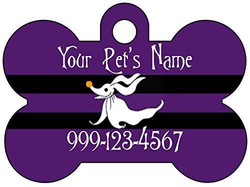 Zero Custom Pet Id Dog Tag Personalized for Your Pet (Purple)