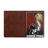 水球 Water Polo フロアマットウォッシャブルフランネルる 滑り止め 付フロアマット耐久性 快適 です2つの仕様が利用可能 36*24in と72*48in
