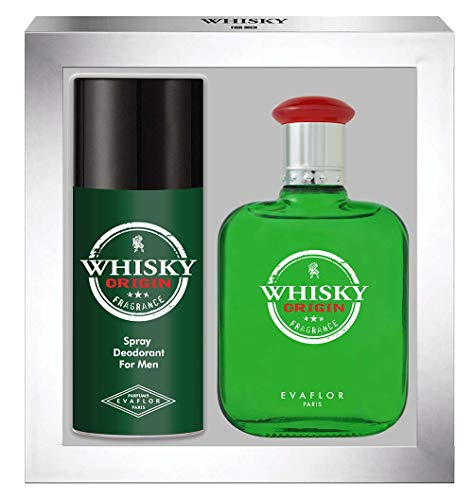 WHISKY ORIGIN • Cofanetto Eau de Toilette 100ML + Deodorante 15OML • Spray • Profumo Uomo • Regalo • EVAFLORPARIS